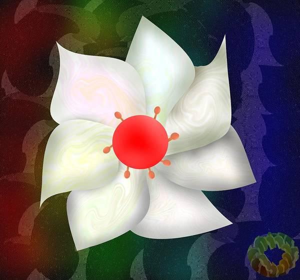 Digital Art - Fleur Blanche by Bukunolami Olamilokun
