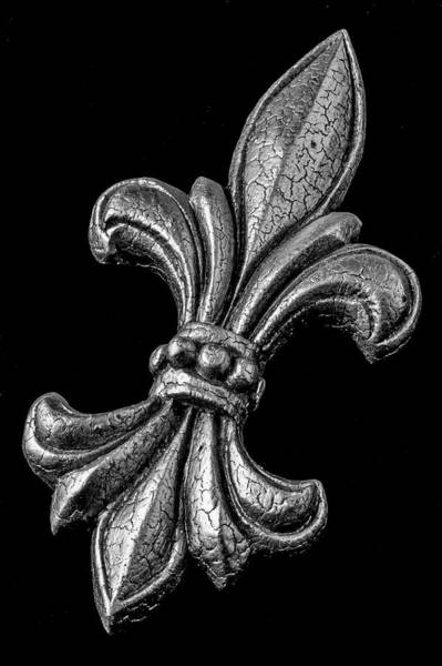 Wall Art - Photograph - Fleur De Lis In Black And White by Garry Gay