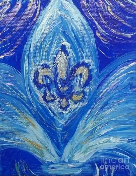 Fleur De Lys Painting - Fleur De Lys De La Fontaine by Seaux-N-Seau Soileau