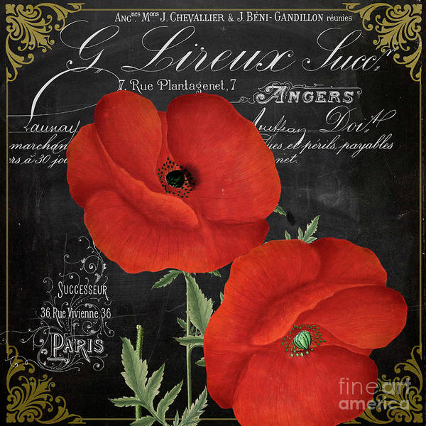 Wall Art - Painting - Fleur Du Jour Poppy by Mindy Sommers