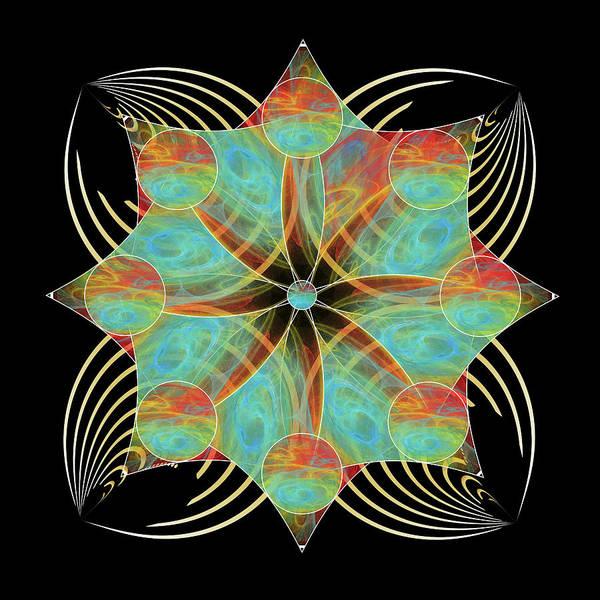 Digital Art - Fleuron Composition No. 170 by Alan Bennington