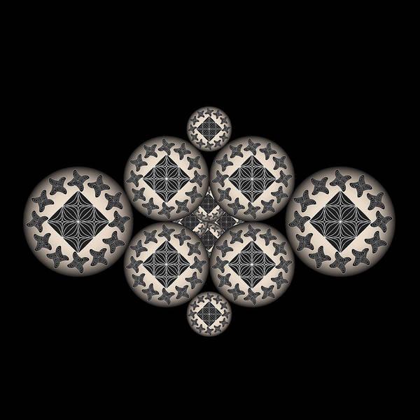 Digital Art - Fleuron Composition No. 173 by Alan Bennington