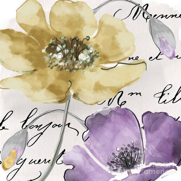 Fleurs Wall Art - Painting - Fleurs De France II by Mindy Sommers
