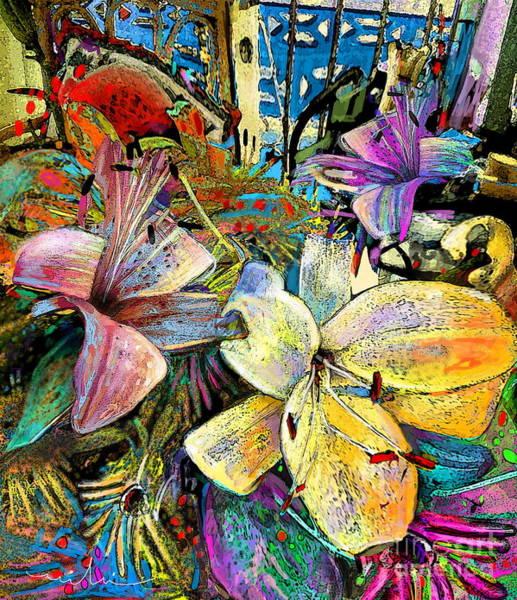 Fleur De Lys Painting - Fleurs De Lys 02 by Miki De Goodaboom