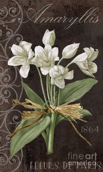 Amaryllis Painting - Fleurs De Paris by Mindy Sommers