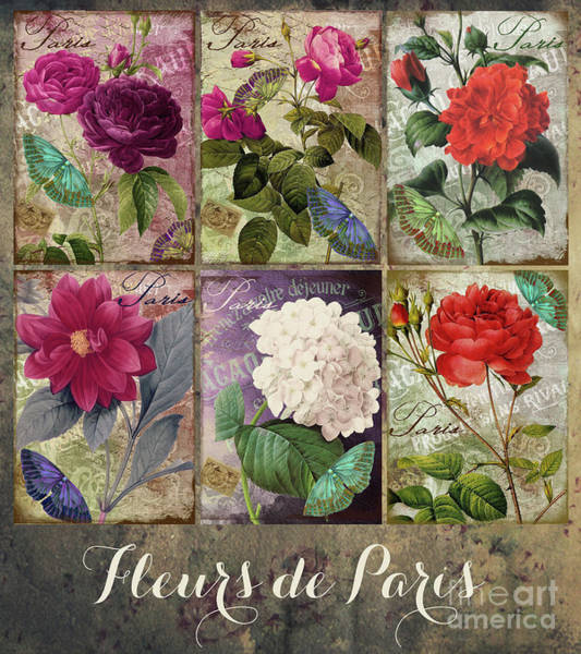 Wall Art - Painting - Fleurs De Paris Pastiche by Mindy Sommers