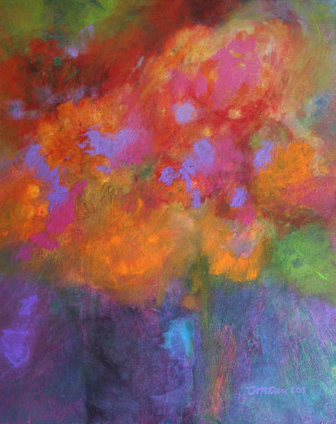 Vase Of Flowers Painting - Fleurs Laughing by Sally Day
