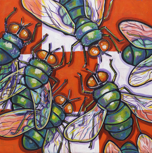 Wall Art - Painting - Flies by Ilene Richard