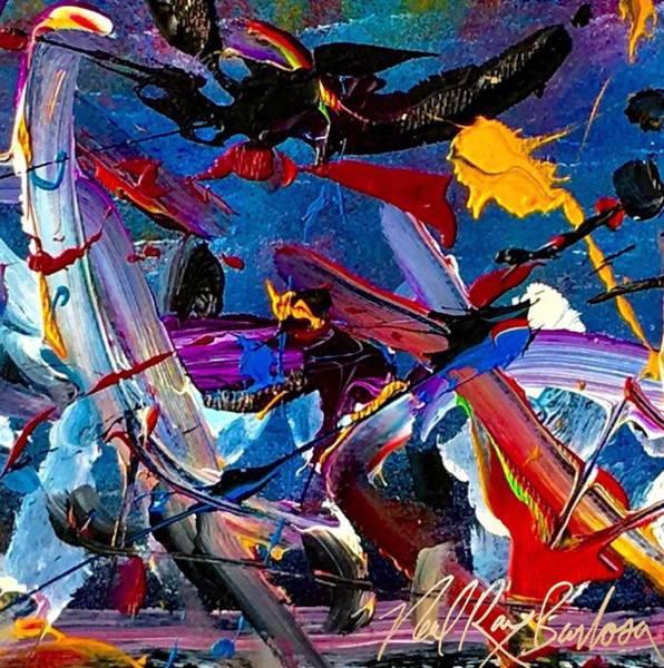 Painting - Flight Of A Huming Bird by Neal Barbosa