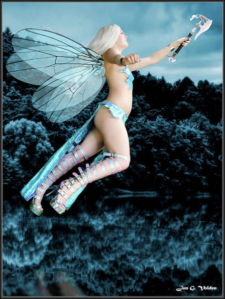 Photograph - Flight Of The Blue Fairy by Jon Volden