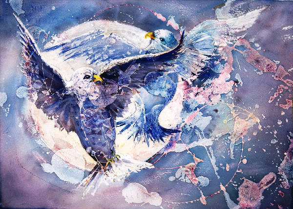 Flight Of The Doves Art Print