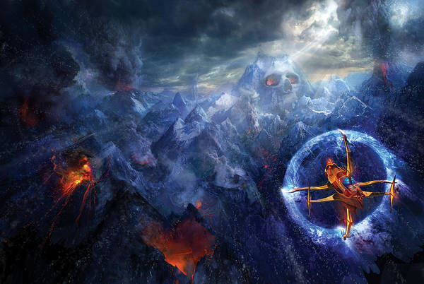 Wall Art - Painting - Flight Of The Dying Sun by Philip Straub