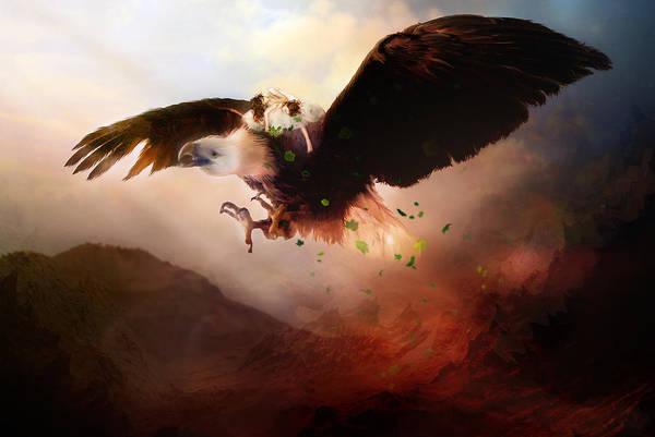 Escape Digital Art - Flight Of The Eagle by Karen Koski
