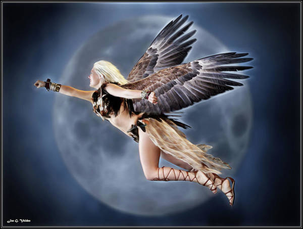 Photograph - Flight Of The Hawk Woman by Jon Volden