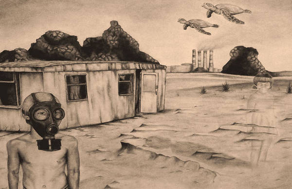 Trailer Drawing - Flight Of The Sea Turtles by Phil Spaulding