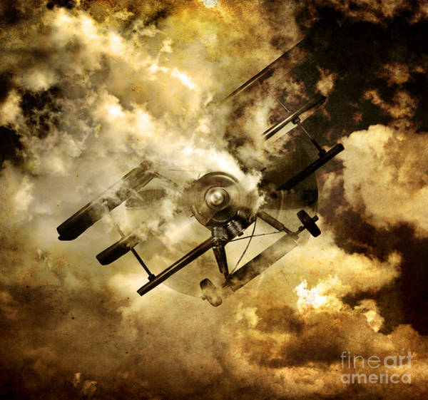 Aerial Combat Photograph - Flight Path Of Disaster by Jorgo Photography - Wall Art Gallery