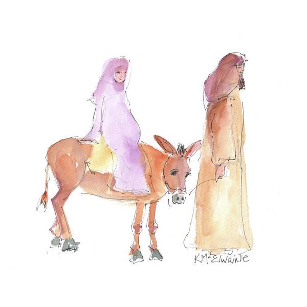 Painting - Road To Bethlehem 2017 by Kathleen McElwaine