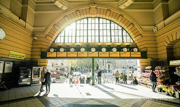 Photograph - Flinders Station by Franz Zarda