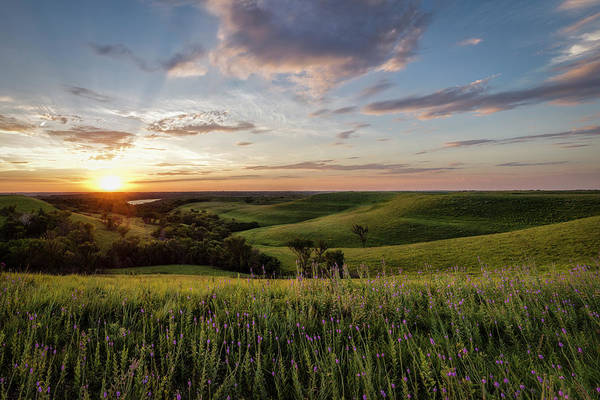 Happiness Photograph - Flint Hills Sunset by Scott Bean