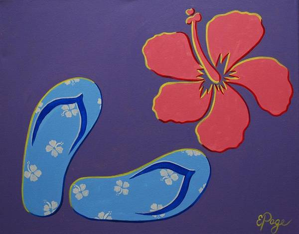 Painting - Flip Flops by Emily Page