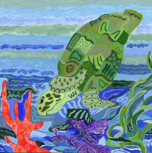 Painting - Flip The Sea Turtle by Stephanie Agliano