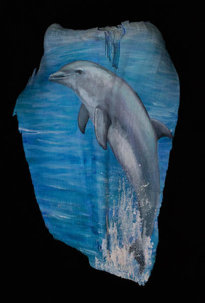 Painting - Flippin' Dolphin by Nancy Lauby