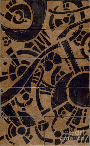 Drawing - Flipside 1 Panel B by Joseph A Langley