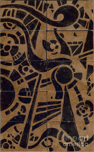 Drawing - Flipside 1 Panel C by Joseph A Langley