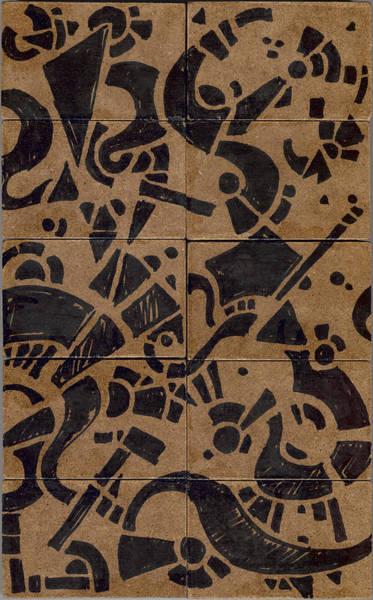 Drawing - Flipside 1 Panel E by Joseph A Langley