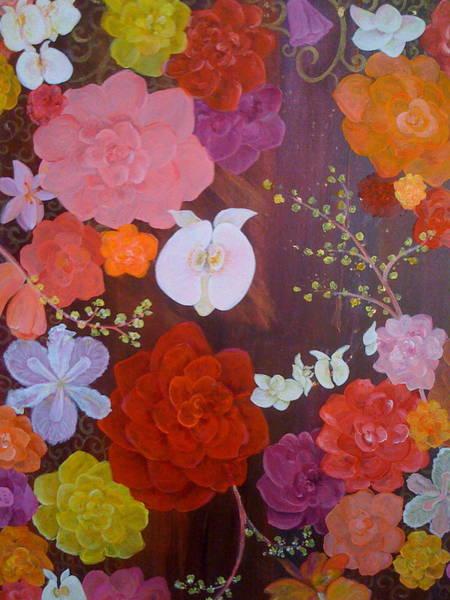 Flirty Blossoms Art Print by Sabra Chili