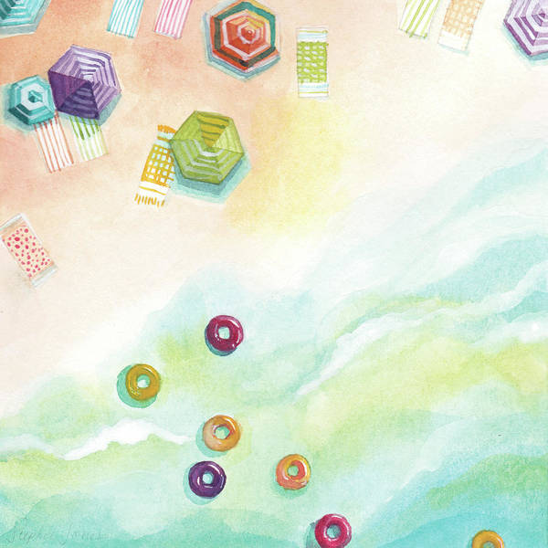 Beach Painting - Float 2 by Stephie Jones
