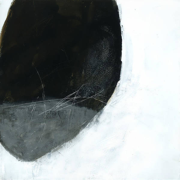 Black And White Painting - Floating #1 by Jane Davies