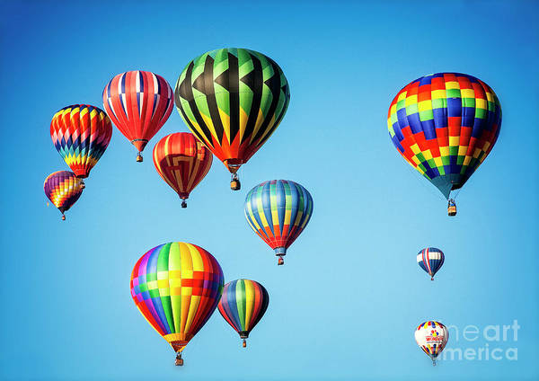 Photograph - Floating Balloons by Scott Kemper