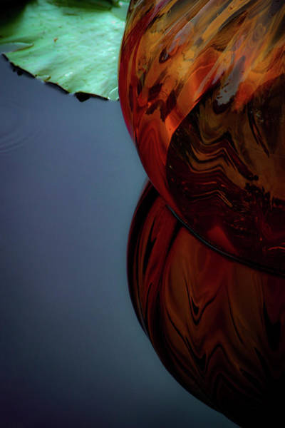 Photograph - Floating Glass Sculpture 4719 H_2 by Steven Ward