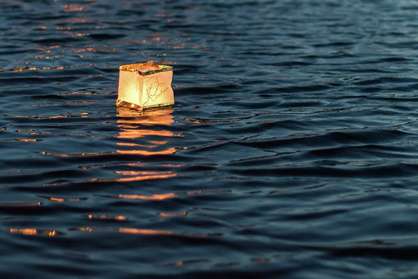 Photograph - Floating Lantern On The Lake by Terry DeLuco