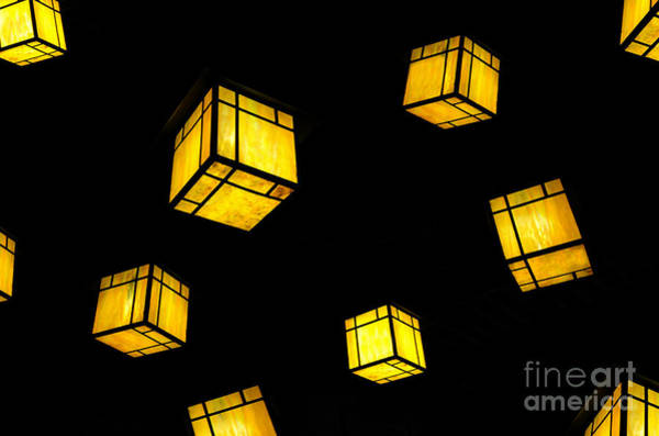 Light Box Photograph - Floating Lanterns by David Lee Thompson