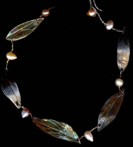 Freshwater Pearls Wall Art - Jewelry - Floating Leaves by Kimberly Clark - Dragonfly Studios