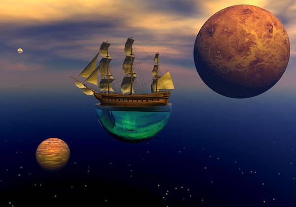 Scifi Digital Art - Floating On A Dream by Claude McCoy