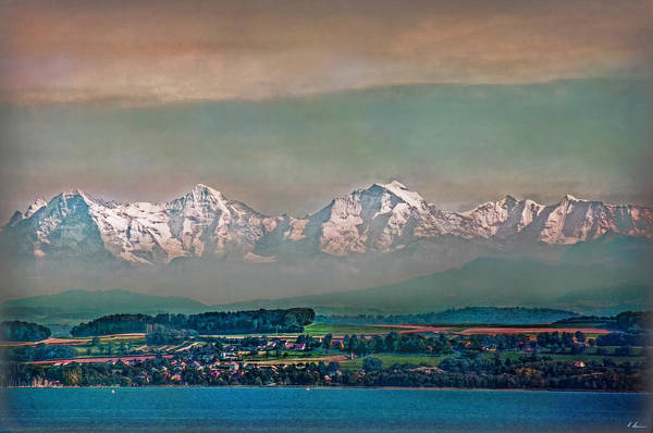 Montain Photograph - Floating Swiss Alps by Hanny Heim