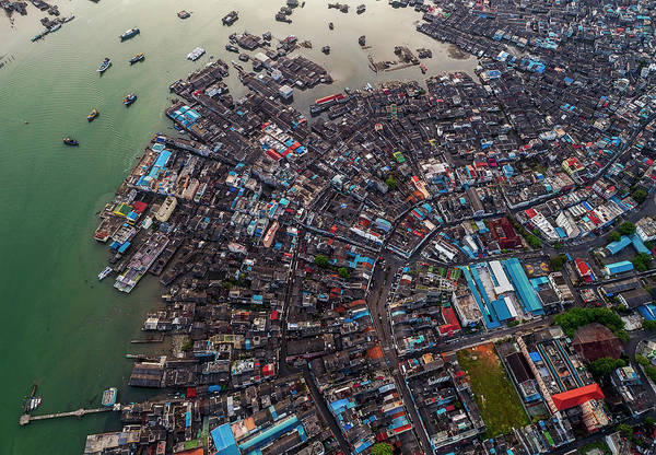 Photograph - Floating Village And Boats From Above by Pradeep Raja PRINTS