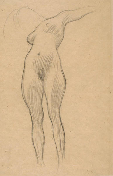 Drawing - Floating Woman With Outstretched Arm by Gustav Klimt