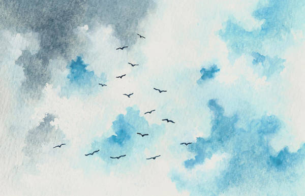 Wall Art - Painting - Flock Of Birds by Michael Vigliotti