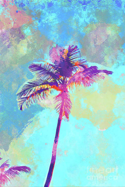 Wall Art - Mixed Media - Florida Palm by Chris Andruskiewicz