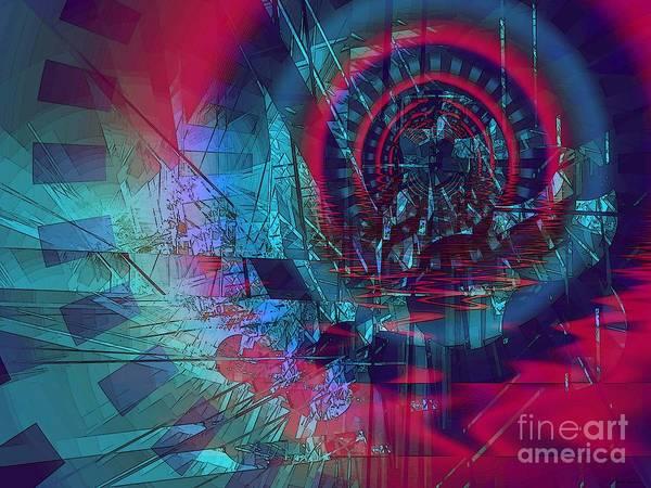Katrina Digital Art - Flood Plain / Blue And Red  by Elizabeth McTaggart