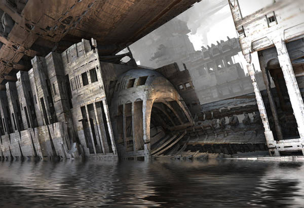 Digital Art - Flooded Subway by Hal Tenny