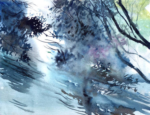 Painting - Flooding by Anil Nene