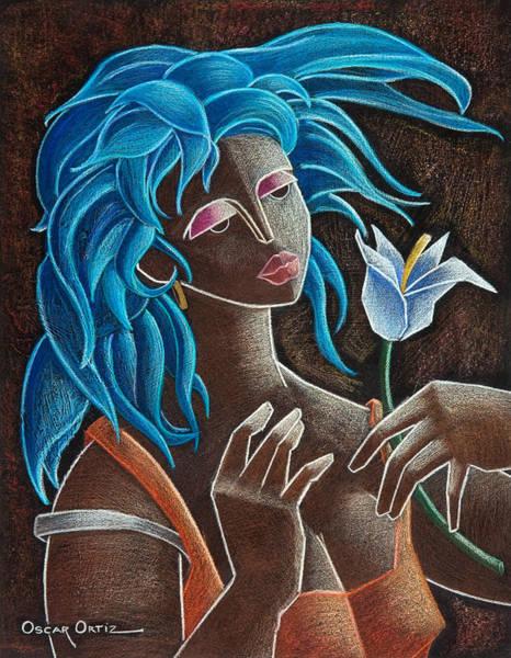 Painting - Flor Y Viento by Oscar Ortiz