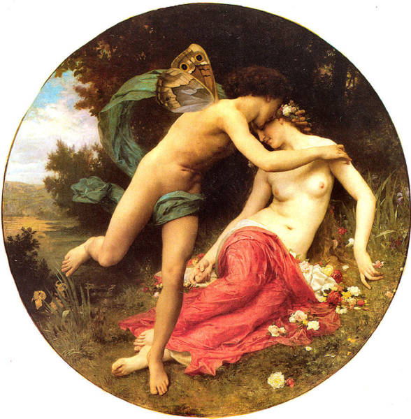 Painting - Flora And Zephyr 1875 by William Bouguereau