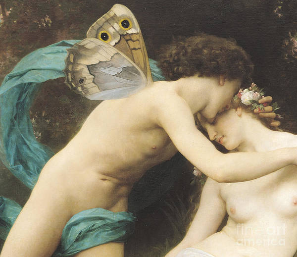 Butterfly Wall Art - Painting - Flora And Zephyr by William Adolphe Bouguereau