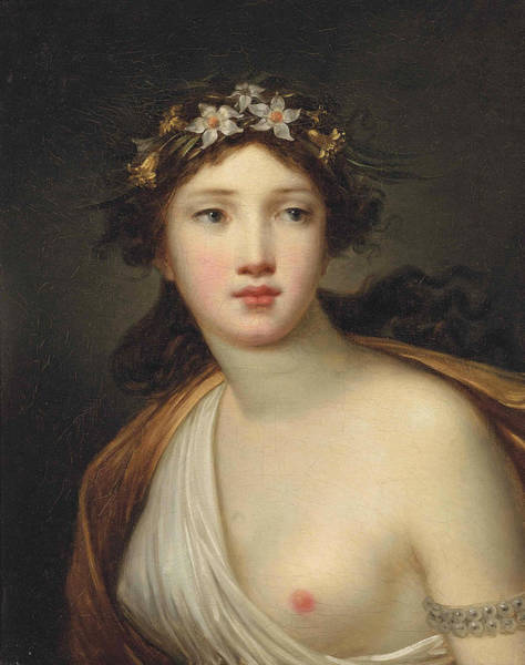Wall Art - Painting - Flora by Attributed to Jacques Antoine Vallin
